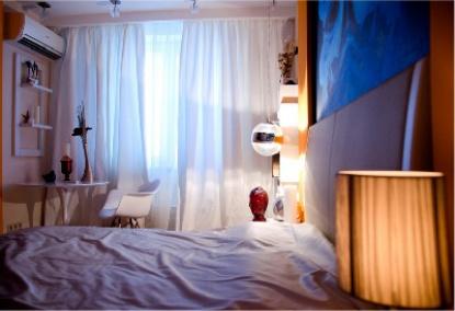 Оранжевая спальня для молодых и дерзких