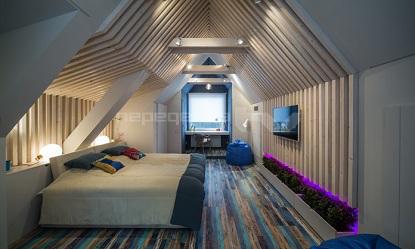 Квартира в мансарде