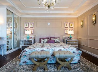 Спальня цвета крем-брюле