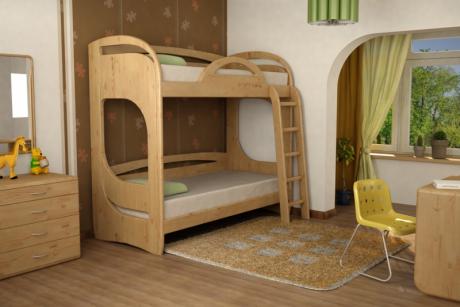 Двухъярусные кровати из массива Миа 1