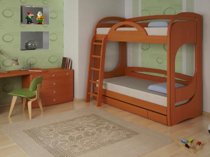 Двухъярусные кровати из массива Миа 2
