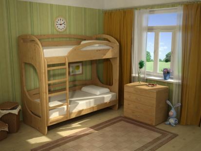 Двухъярусные кровати из массива Миа 3