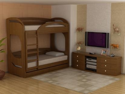 Двухъярусные кровати из массива Миа 5