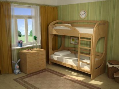 Двухъярусные кровати из массива Миа 4