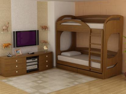 Двухъярусные кровати из массива Миа 6